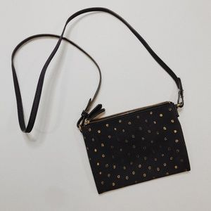 • OLD NAVY • navy & gold spotted crossbody bag